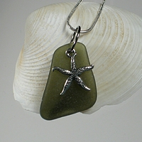 Sea Glass jewelry at From The Beach.net